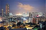 urban city sunset