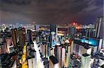 Hong Kong with building at night