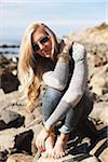Woman at the Beach, Palos Verdes, California, USA