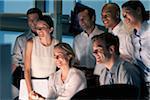 Gruppe von Geschäftsleuten zusammen arbeiten