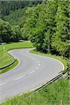 Winding Rural Road, Upper Bavaria, Germany