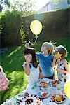 Children at outdoor birthday party