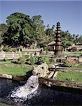 Tirta Gangga, a water pleasure garden built by the King of Karangasem in the 20th century, eastern Bali, Indonesia, Southeast Asia, Asia