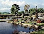 Tirta Gangga, a pleasure water garden built by the King of Karangasem in the 20th century. eastern Bali, Indonesia, Southeast Asia, Asia