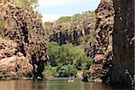 Gorges de Nitmiluk en grès dur, Katherine, Northern Territory, Australie, Pacifique