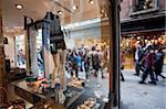 Shops and pedestrians on Marzaria, Venice, Veneto, Italy, Europe