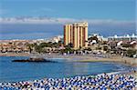 Playa de las Vistas, Los Cristianos, Tenerife, Canary Islands, Spain, Atlantic, Europe