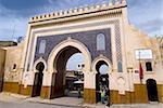 Blau-Tor (Bab Boujloude), Fez, Marokko, Nordafrika, Afrika