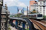 Metro line, Medellin, Colombia, South America