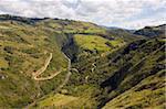 Winding road at Paso del Angel, Santa Sofia, near Villa de Leyva, Colombia, South America