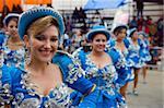Women in parade at Oruro Carnival, Oruro, Bolivia, South America
