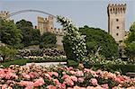 The Rose Park and City Walls, Este, Veneto, Italy, Europe