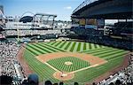 Les Mariners de Seattle jouer à un jeu de jour contre les Athletics d'Oakland au Safeco Field, Seattle, état de Washington, États-Unis d'Amérique, Amérique du Nord