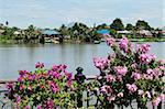 Rivière Sarawak, Waterfront Kuching, Kuching, Sarawak, Bornéo, Malaisie, Asie du sud-est, Asie