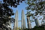 Petronas Twin Towers, Kuala Lumpur, en Malaisie, l'Asie du sud-est, Asie