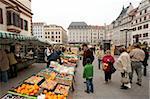 Markt am Rathaus, Leipzig, Sachsen, Deutschland, Europe
