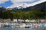 Port de plaisance de Thomas Basin à Ketchikan, sud-est de l'Alaska, États-Unis d'Amérique, Amérique du Nord