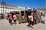 Market in Praca da Figueira, Rossio District, Lisbon, Portugal, Europe