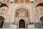 Ganesh Pol (Ganesh porte) au Fort d'Amber, Jaipur, Rajasthan, Inde, Asie