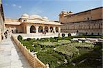 Sheesh Mahal (Palais de miroir) au Fort d'Amber, Jaipur, Rajasthan, Inde, Asie
