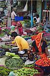 Marché aux légumes, Bundi, Rajasthan, Inde, Asie