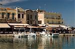 Vieux port vénitien, Rethymno, Crète, îles grecques, Grèce, Europe