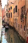 Gondel auf dem Canal, Venedig, UNESCO World Heritage Site, Veneto, Italien, Europa