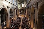 Catholic mass, St. Sulpice church, Paris, France, Europe