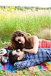 Couple having Picnic, Unionville, Ontario, Canada