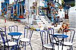 Café et souvenir shop, Sidi Bou Saïd, Tunisie, l'Afrique du Nord, Afrique