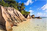 Granit Felsformationen, Anse Source d ' Argent, La Digue, Seychellen