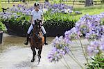Pferd Reiter Crossing Wasser, Pferdesport-Ereignis