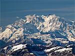 Monte Rosa under snow