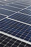 Diagonale de panneaux solaires