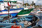 Pêche des bateaux, le port de Kelibia, Tunisie, Afrique du Nord, Afrique