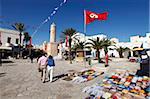 Handicraft shop in front of the Ribat, Place de la Grande Mosque, Medina, Sousse, Tunisia, North Africa, Africa