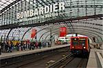 The railwaystation, Lehrter Bahnhof in the center of Berlin, Germany, Europe