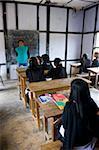 School kids in a school in the remote area of Arunachal Pradesh, Northeast India, India, Asia