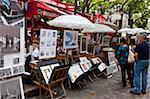 Place du Tertre, Montmartre, Paris, France, Europe