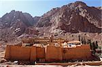 Die weltweit älteste christliche Kloster steht unter Mount Sinai, St. Katharinen Kloster, UNESCO-Weltkulturerbe, Halbinsel Sinai, Ägypten, Nordafrika, Afrika
