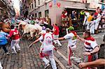 Siebte Encierro (laufen der Stiere), San Fermin Festival, Pamplona, Navarra (Navarra), Spanien, Europa