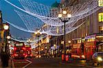 Christmas lights, Regents Street, Londres, Angleterre, Royaume-Uni, Europe