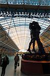 Le lieu de rencontre, la gare St. Pancras, Londres, Royaume-Uni, Europe