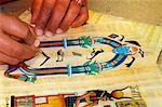 Hieroglyphic writing, Luxor, Egypt, North Africa, Africa