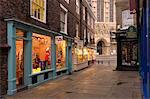 Shops near York Minster, York, Yorkshire, England, United Kingdom, Europe