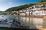 Bayard's Cove und Dart River, Dartmouth, Devon, England, Vereinigtes Königreich, Europa