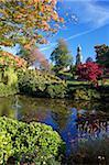 Dingle und St. Chads Kirche, Quarry Park, Shrewsbury, Shropshire, England, Vereinigtes Königreich, Europa