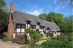 Anne Hathaway Shottery, Stratford-upon-Avon, Cottage, Warwickshire, Angleterre, Royaume-Uni, Europe
