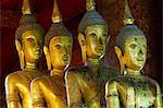 Statues of Buddha, Vat Mai Suvannaphumaham, Luang Prabang, UNESCO World Heritage Site, Laos, Indochina, Southeast Asia, Asia