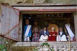 Effigies des morts dans les falaises, cimetière de Toraja, Lemo, Tana Toraja, Toraja de Sulawesi, Célèbes, Indonésie, Asie du sud-est, Asie